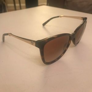 Tory Burch Tortoise and Gold Sunglasses with Case